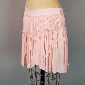 Paige Blush Ruffled Mini Skirt Womens Size Small